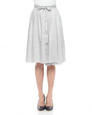 グレー シャンブレーオックスベルト付 スカートを見る