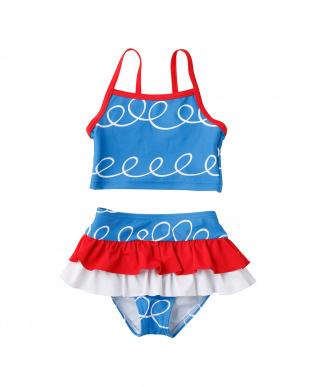 ブルー セパレート水着を見る