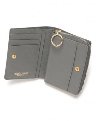 グリー/スーリー  PF ZIP 3CC エカイユ柄 ラウンドジップ 二つ折り財布を見る