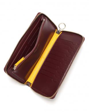 ルージュ/ボルドー  PF ZIP 14 CC エカイユ柄 ラウンドジップ 長財布を見る