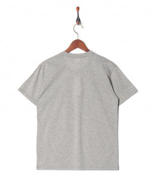 グレー カジュアルTシャツ クルーネックを見る