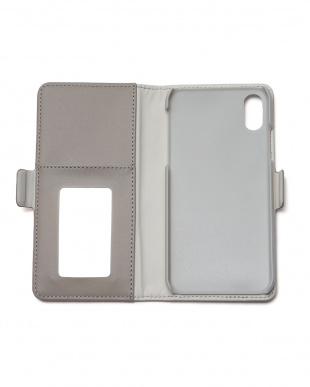 グレー iPhoneX用手帳型ケース・フラワー刺繍/デジタルアクセサリーを見る