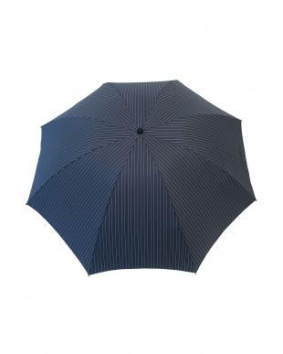 インディゴストライプ  コンパクトなのに大きく使える 折り畳み傘 煌-kirameki-を見る