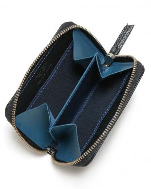 ブラック×ブルー ラウンドファスナー小銭入れを見る