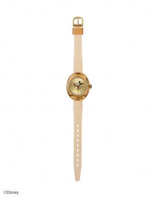 クリアローズ×クリアローズベルト レトロミッキー オーバル時計を見る