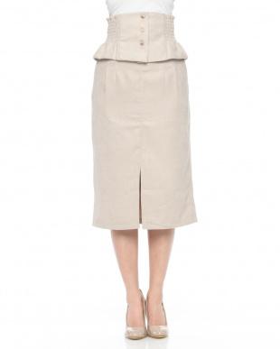 BE ペプラムベルト付きタイトスカートを見る