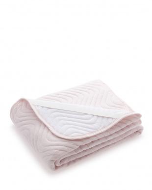 ピンク 高密度綿パイル敷パット セミダブルサイズを見る