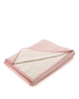ピンク 日本製シールガーゼ綿毛布を見る