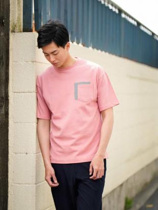 ピンク 【吸水速乾】MOVED COTTON別布ポケットカットソー[WEB限定サイズ] a.v.v HOMMEを見る