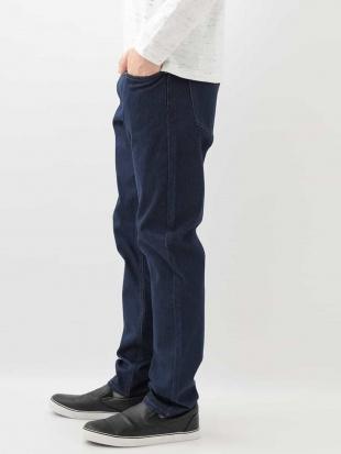 ネイビー 【ワンダーシェイプ】デニム5ポケットパンツ[WEB限定サイズ] a.v.v HOMMEを見る