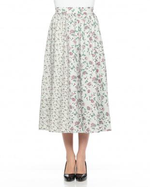 柄ベージュ *花柄切り替えスカートを見る