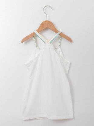 ホワイト [100-130]三つ編みキャミソール[WEB限定サイズ] a.v.v bout de chouを見る