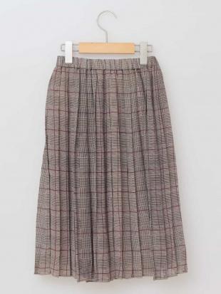 ブラック [100-130]グレンチェックプリーツスカート[WEB限定サイズ] a.v.v bout de chouを見る