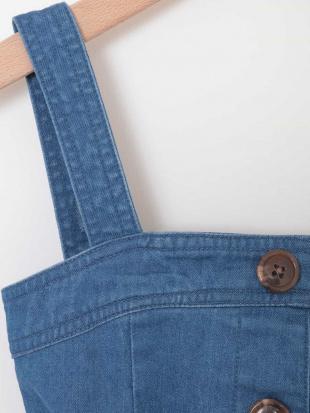 ブルー [140-150]デニムトレンチジャンパースカート a.v.v bout de chouを見る
