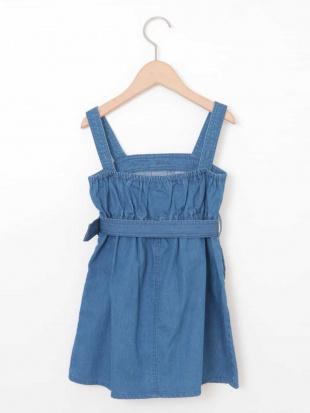 ブルー [160]デニムトレンチジャンパースカート[WEB限定サイズ] a.v.v bout de chouを見る