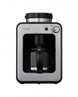 ブラック/ステンレスシルバー siroca 全自動コーヒーメーカーを見る