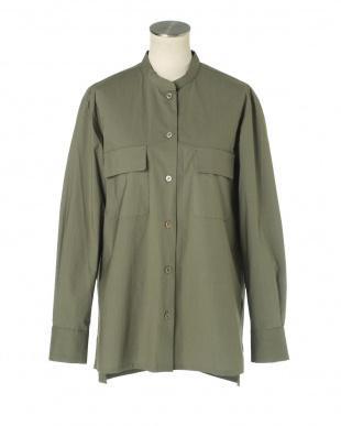 グリーン・カーキ dunadix フラップポケットシャツ アナディスを見る