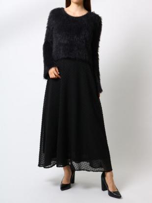 グレー 【WEB限定】ドットデザインロングスカート RESEXXYを見る