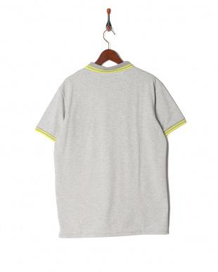 h.gray ラインデザイン ハーフジップ半袖ポロシャツを見る