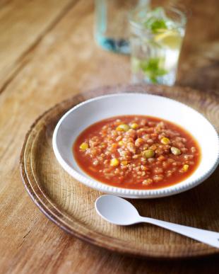 『野菜だけでつくったヘルシーリゾット』 濃厚トマトのスープリゾット 3袋を見る