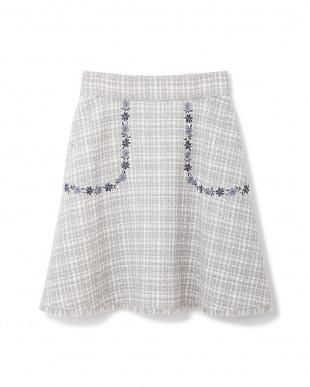 グレー スプリング ツィード スカート Jill by Jill リプロを見る