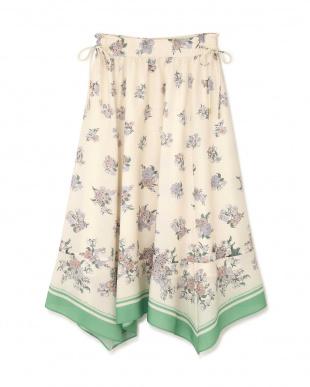 グリーン |Ray 3月号掲載|スカーフフローラルスカート Jill by Jill リプロを見る