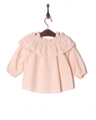 L・ピンク Embroidered off-shoulder topを見る