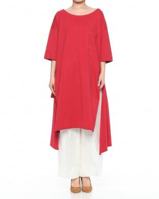 296 デザインスリット 六分袖ドレスを見る