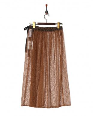 キャメル チュールレース巻きスカート/Tを見る