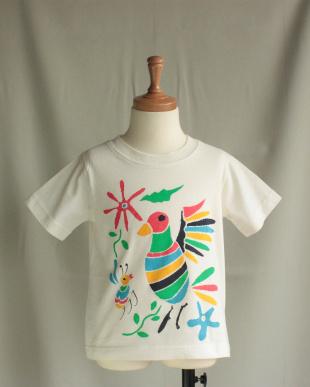 ホワイト カラフルとりさんTシャツを見る