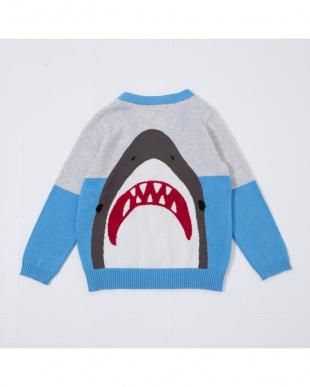 ブルー サメカーディガンを見る