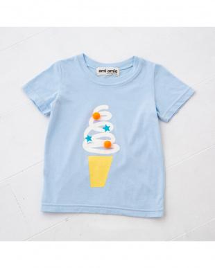 ブルー ソフトクリームTシャツを見る