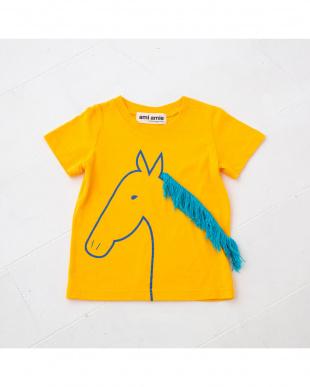 イエロー 馬Tシャツを見る