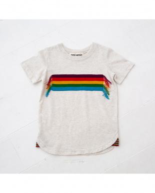 ホワイト レインボーニットTシャツを見る