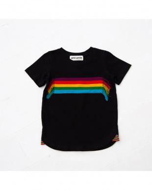 ブラック レインボーニットTシャツを見る