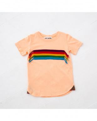 ピンク レインボーニットTシャツを見る