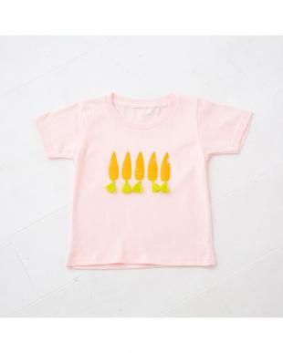 ピンク にんじんTシャツを見る