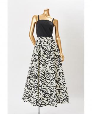 ブラック/アイボリー サマーワンピースドレス(タヒチアンタトゥ)を見る