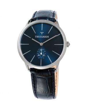 T-WORLD レザーベルト腕時計|MENを見る