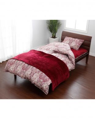 レッド 羽毛掛けふとん、敷きふとん、枕、カバー、毛布、敷きパッドまで揃ったお買い得シングルサイズ 8点セットを見る
