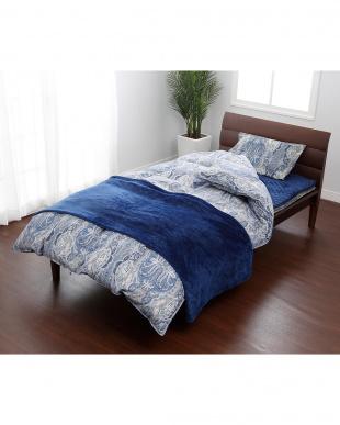 ブルー 羽毛掛けふとん、敷きふとん、枕、カバー、毛布、敷きパッドまで揃ったお買い得シングルサイズ 8点セットを見る