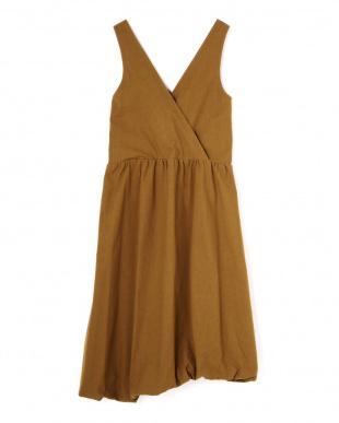ブラウン [ELIN]Cotton puffy dress アッシュスタンダードを見る