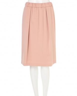 ピンク T/Rネグレスコポンチギャザースカート NATURAL BEAUTYを見る