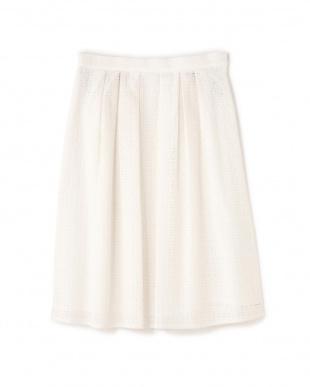ホワイト5 《Purpose》[内田嶺衣奈さん、竹内由恵さん着用]スクエア刺繍スカート NATURAL BEAUTYを見る
