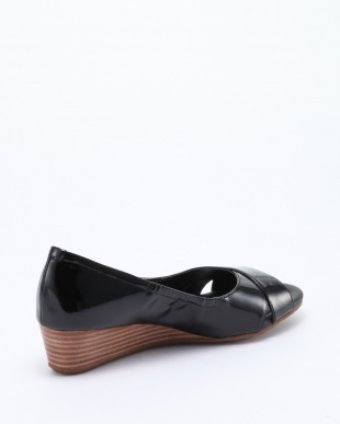 MELINA OPEN TOE WEDG:BLACK PATを見る