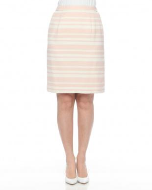 ピンク  ピンクボーダータイトスカートを見る