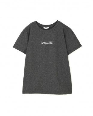 チャコールグレー5 ◆フィットネス◆[洗える]ストレッチドライロゴTシャツ TOKYO STYLIST THE ONE EDITIONを見る