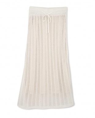 ホワイト かぎ針ニットアップスカート TOKYO STYLIST THE ONE EDITIONを見る