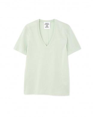 グリーン VネックTシャツ TOKYOSTYLIST THEONE EDITIONorgを見る