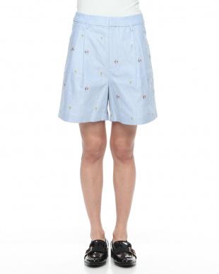 blue RHC-16SL-086 刺繍ショートパンツを見る